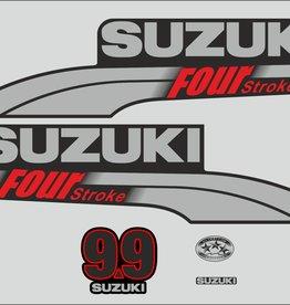 Suzuki 9.9 PK  bouwjaar 2003-2009 sticker set