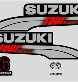 Suzuki 6 PK  bouwjaar 2003-2009 sticker set