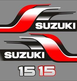 Suzuki 15 PK  bouwjaar 1998 sticker set