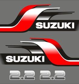 Suzuki 2.2 HP year range 1998 sticker set