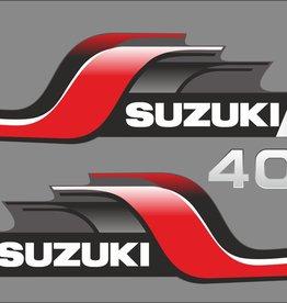 Suzuki 40 PK  bouwjaar 1998 sticker set