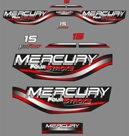 Mercury 15 HP year range 1999-2003 sticker set