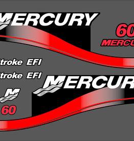 Mercury 60 HP year range 2003-2005 sticker set