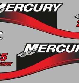 Mercury 25 PK  bouwjaar 2003 sticker set