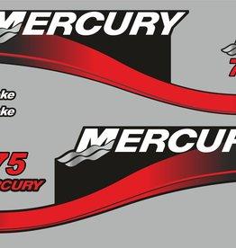 Mercury 75 PK  bouwjaar 2003 sticker set