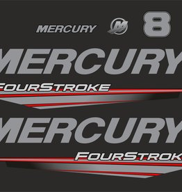 Mercury 8 HP year range 2015-2019 sticker set