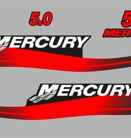 Mercury 5 HP year range 2003-2005 sticker set