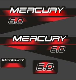 Mercury 6 HP year range 1994 – 1998 sticker set