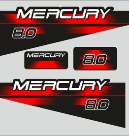 Mercury 8 HP year range 1994 – 1998 sticker set