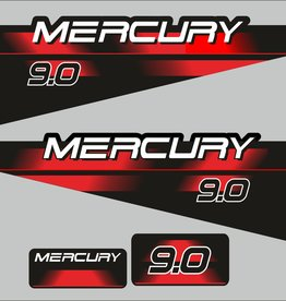 Mercury 9 HP year range 1994 – 1998 sticker set