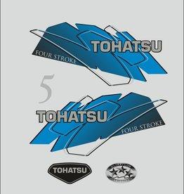 Tohatsu 5 PK  bouwjaar 1999 – 2003 sticker set