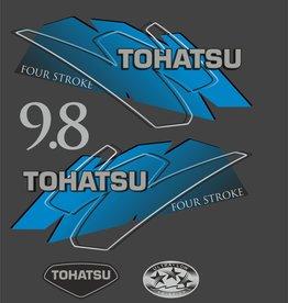 Tohatsu 9.8 PK  bouwjaar 2007 – 2015 sticker set