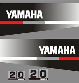 Yamaha 20 year range 1986 to 1991 Sticker set