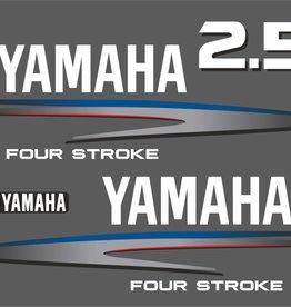 Yamaha 2,5 PK bouwjaar 2002-2006 Sticker set
