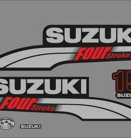 Suzuki 15 PK  bouwjaar 2003-2009 sticker set
