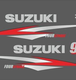 Suzuki 9.9 HP year range 2000-2004 sticker set