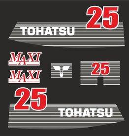 Tohatsu 25 PK  bouwjaar 2004  sticker set