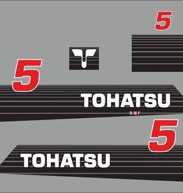 Tohatsu 5 PK  bouwjaar 2002  sticker set