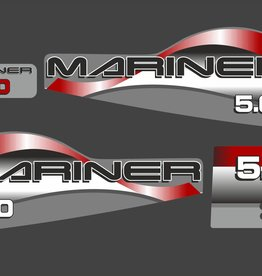 Mariner 5 HP year range 2004-2015  sticker set