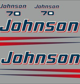 Johnson/Evinrude 70 HP year range 1990 to the present sticker set