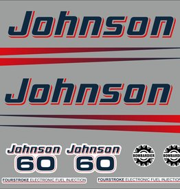 Johnson/Evinrude 60 HP year range 2002-2006 sticker set
