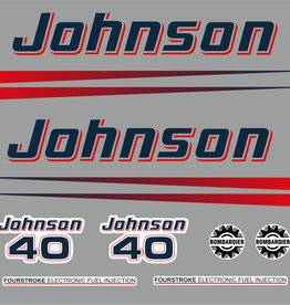 Johnson/Evinrude 40 HP year range 2002-2006 sticker set