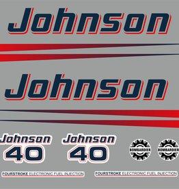 Johnson/Evinrude 40 PK  bouwjaar 2002-2006  sticker set