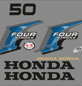 Honda 50 HP year range 2006 sticker set