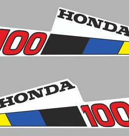 Honda 100 10 HP year range 1985 sticker set