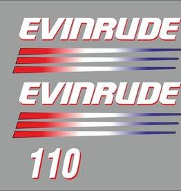 Johnson/Evinrude 110 PK  bouwjaar 2003-2006  sticker set