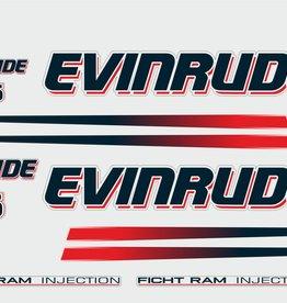 Johnson/Evinrude 115 PK  bouwjaar 2002-2006  sticker set