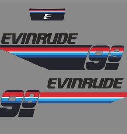 Johnson/Evinrude 9.9 PK  bouwjaar 1978 sticker set