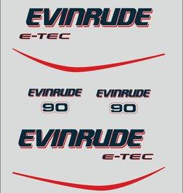Johnson/Evinrude 90 PK  bouwjaar 1990 tot heden  sticker set