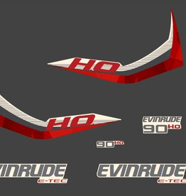 Johnson/Evinrude 90 HP year range 2015 sticker set