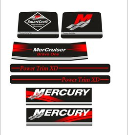 Mercury Mercruiser bravo one 1 sticker set