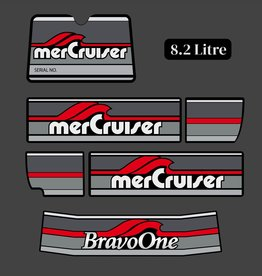 Mercury Mercruiser bravo one bouwjaar 1986 - 1998 sticker set