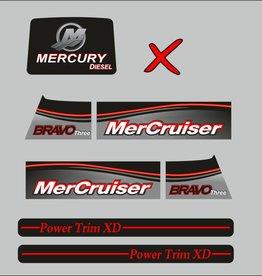 Mercury Mercruiser bravo 3 diesel bouwjaar 2017 stickerset