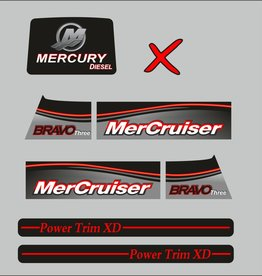 Mercury Mercruiser bravo 3 diesel year range 2017 sticker set
