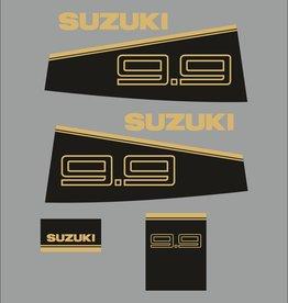 Suzuki 9.9 PK  bouwjaar 1988-1990 sticker set
