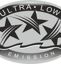 Ultra low emission sticker