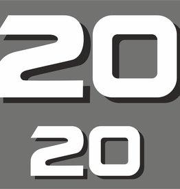 Yamaha 20 HP year range 1998-2006 Sticker set