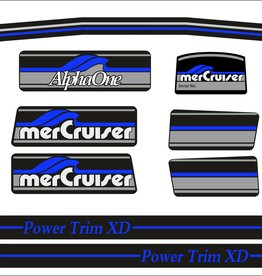 Mercury MerCruiser Alpha 1 Sticker set blauw