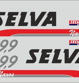 Selva 9.9 HP sticker set