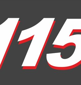 Buitenboordmotor sticker set 115 PK