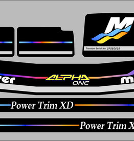 Mercruiser alpha racing Sticker set