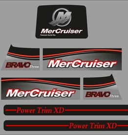 Mercruiser bravo 3 – 2017 Sticker set
