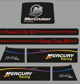 Mercruiser bravo racing Sticker set