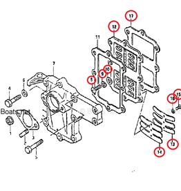 Suzuki 5/6 HP 2- Stroke 2 Cylinder Reed valve assy (13150-98101)