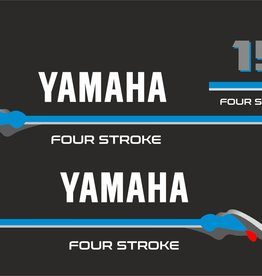 Yamaha fourstroke 15 HP Sticker set