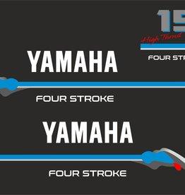 Yamaha 15 PK  4 Takt high trust Sticker set